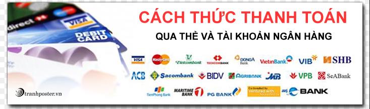 Các hình thức thanh toán qua thẻ ngân hàng của Tratexco