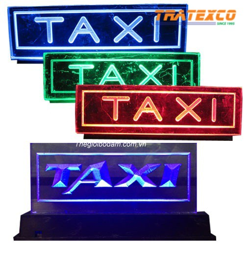 Đèn LED TAXI FOR HIRE khắc LAZE 3D